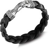 Sterling Silver Classic Chain & Braided Leather Cord Bracelet - Black - John Hardy Bracelets
