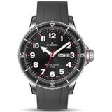 Chronorally S Quartz Black Dial Watch 3rca Nrob - Black - Edox Watches