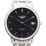 Presence Automatic Black Dial Watch - Black - Longines Watches