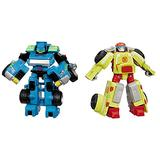 Playskool Heroes Transformers Rescue Bots Hoist The Tow-Bot Action Preschool Action Figure & Heroes Transformers Rescue Bots Heatwave The Fire-Bot Converting Toy Robot Action Figure