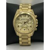 Michael Kors Accessories | Michael Kors Mk5166 Women'S Stainless Steel Analog | Color: Gold/Tan | Size: Os