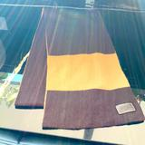 Coach Accessories | Coach Authentic 100% Cashmere Scarf Brown Men | Color: Brown/Yellow | Size: Os