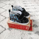 Vans Shoes | Baby Vans (Crib Shoes) | Color: Black/Blue/White | Size: 9-12 Months Size 3