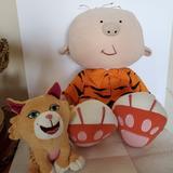 Disney Toys | Disney Stanley Stuffed Plush Doll And Cat Elsie | Color: Orange | Size: Os