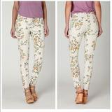 Anthropologie Jeans   Coh Thompson Floral Denim   Color: Cream/Green   Size: 30