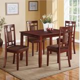Sonata 5Pc Pk Dining Set in Cherry & Chocolate Mfb - Acme Furniture 71164