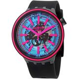 Big Bold Quartz Blue Dial Unisex Watch - Pink - Swatch Watches