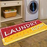 Laundry Rug Red Floormat Runner Rug Says Laundry Vintage Floor Mat Non Skid Laundry Runner Rug Farmhouse Laundry Room Rug 2x4 for Washroom/Mudroom