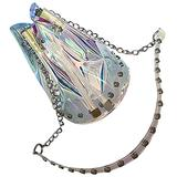 BESTOYARD Transparent Clear Holographic Bucket Bags Drawstring Bags Chain Strap Purse Crossbody Shoulder Bag Handbags for Women Girls Ladies