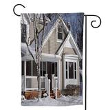 Dxichy Middle Class Midwest House House,House Yard Garden Flag Outside Decoration Seasonal Home Decor Flag Winter 28''x40''
