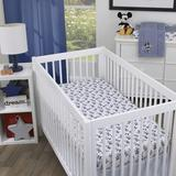 Disney Mickey Mouse 3 Piece Crib Bedding Set Polyester in Blue/Gray/White, Size 34.0 W in | Wayfair 7765276P
