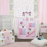 Disney Minnie Mouse Be Happy 3 Piece Crib Bedding Set Polyester in Pink, Size 30.0 W in | Wayfair 5102740P