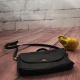 Coach Bags | Coach Black Leather Computer Laptop Briefcase | Color: Black/Gold | Size: Os