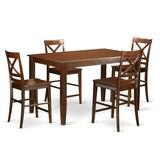 Winston Porter Agetina 7 - Piece Counter Height Rubber Solid Wood Dining Set Wood in Brown, Size 36.0 H x 36.0 W x 60.0 D in   Wayfair