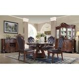 Bloomsbury Market Dining Sets Wood/Upholstered Chairs in Black/Brown, Size 30.0 H x 60.0 W x 60.0 D in | Wayfair C1B4899D16F34991B68FE66BDD94B393