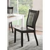 Red Barrel Studio® Juniour Side Chair w/ Wood Tapered Leg(Set-2) In Black Wood in Black/Brown/Green, Size 39.0 H x 19.0 W x 19.0 D in   Wayfair