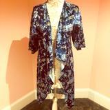 Lularoe Sweaters | Lularoe Velvet Jacket Robe | Color: Blue | Size: Fits Most Sizes