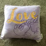 Disney Accents | Disney Minnie Mouse Love Pillow With Sequins | Color: Purple | Size: Os
