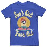 Men's Despicable Me Minions Sun's Out Fun's Out Tee, Size: Large, Med Blue