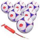 GoSports kids Premier Soccer Ball w/ Premium Pump 6 Pack, Size 4 Plastic in Blue/Red, Size 26.0 H x 26.0 W x 26.0 D in | Wayfair