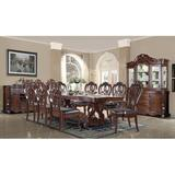 Lark Manor™ Laroche 9 - Piece Extendable Dining Set Wood/Upholstered Chairs in Brown, Size 30.0 H in   Wayfair 8195C7EFA5E14DC7899FB01EA558F3D5