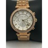 Michael Kors Accessories   Michael Kors Mk5626 Womens Stainless Steel Analog   Color: Silver/Tan   Size: Os