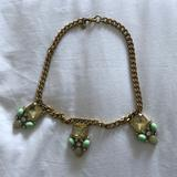 J. Crew Jewelry   Jcrew Blues And Gold Necklace   Color: Blue/Gold/Yellow   Size: Os