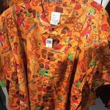 Disney Shirts   Disney 2017 Pirates Of The Caribbean Button Shirt   Color: Orange   Size: Various