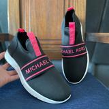 Michael Kors Shoes   No Available Michael Kors Merlyn Scuba Logo   Color: Black/Red   Size: Various