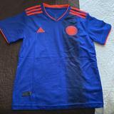 Adidas Shirts & Tops   Adidas Federacion Colombiana De Futbol Kids Jersey   Color: Blue/Orange   Size: 28
