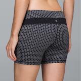 Lululemon Athletica Shorts | Lululemon Groove Short Sz 8 *Full-On Luon | Color: Black/Red/Silver | Size: 8