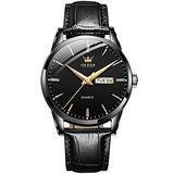 Amazon Watches,Brown Leather Watch for Men,Men Day Date Watch,Men's Luminous Watch,Dress Watch for Men,Rose Gold Watch for Men,Men's Fashion Quartz Watch,Waterproof Brown Man Watches