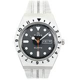 Timex 38 mm Q Timex Color Series Stainless Steel Case Silver/Black/Silver 1 One Size