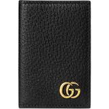 gg Marmont Card Case - Black - Gucci Wallets