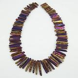 BD-11854 DIY Beads Raw Purple Quartz Crystal Points Tiny Rough Quartz Points Raw Crystal Stick Beads Supplies 3-5x25-40mm