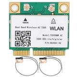 Wireless Network Card, Mini PCI-E WiFi Bluetooth 4.2 Dual Band Wireless Network Card 867Mbps Stable Structure Wireless Network Card wth High Performance for Computer