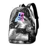 Marsh-Mello Fashion Personalized Backpack Casual Galaxy Star Sky School Shoulders Bag for Teens Boys Girls Bookpack