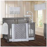 BabyFad Minky White 9 Piece Baby Crib Bedding Set