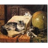 1000 Puzzles Pieces/Oil Painting cat Animal(50x75cm)Game Wooden Puzzles Toy Gift for Home Wall Decoration Puzzle Floor Puzzle