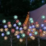 3 Pack Solar Garden Lights, Solar Decorative Lights Outdoor Solar Flower Light with Multi Color Changing Solar Garden Lights for Wider Solar Panel for Garden Patio Decoration