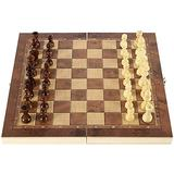 ZHZHUANG Chess Set Folding International Chess Set 3 in 1 Magnetic Chess Board Game Puzzle Game for Kids Toys Gift International Chess Wooden Chess,a