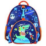 Cute Waterproof School Backpacks for Kids, Kindergarten Children's School Bags for Boys and Girls (Blue dinosaur)