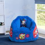 Delta Children Disney Mickey Mouse Cozee Fluffy Foam Upholstered in Blue/Red, Size 21.0 H x 24.0 W x 22.0 D in | Wayfair UP83833MM-1054