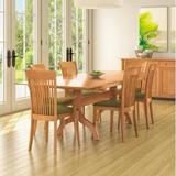 Copeland Furniture Sarah 5 Piece Solid Wood Dining Set Wood/Upholstered Chairs in Brown/Red, Size 30.0 H x 40.0 W x 40.0 D in | Wayfair