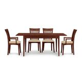 Copeland Furniture Sarah 5 Piece Solid Wood Dining Set Wood/Upholstered Chairs in Brown/Red, Size 30.0 H x 40.0 W x 40.0 D in   Wayfair