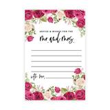 Koyal Wholesale Nude & Deep Red Roses Wedding Advice & Well Wishes Guest Book Cards For Bride & Groom, 56 Pack in White   Wayfair A3PP02129