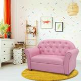 Gemma Violet Princess Armrest Chair Lounge Couch Upholstered in Brown/Green/Pink, Size 23.0 H x 17.0 D in | Wayfair