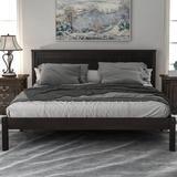Red Barrel Studio® Wood Platform Bed w/ Headboard, Wood Slat, Full Wood in Brown, Size 63.9 W x 80.7 D in   Wayfair