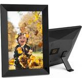 "Orren Ellis Jovon 6"" X 8"" Beveled Plastic Digital Frame Plastic in Black, Size 10.4 H x 7.2 W x 2.0 D in | Wayfair F8EC53D4468F4E0D90D9C1A7443D445E"