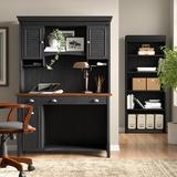 Lark Manor™ Heskett 3 Piece Rectangular Computer Desk Office Set w/ Hutch Wood in Black/Brown | Wayfair 5C2373DEC0924BD0BC731B2443B183F4
